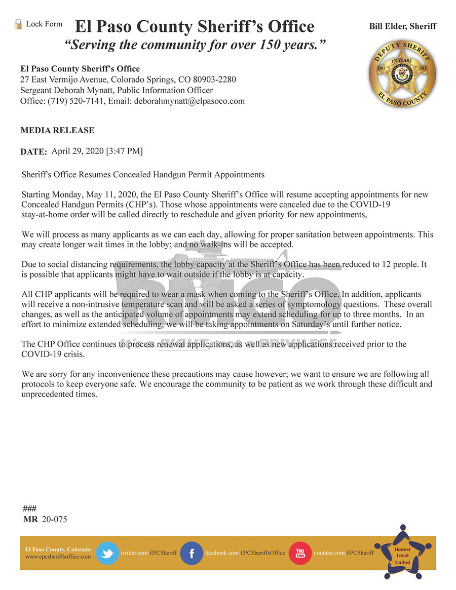 Bill Elder caves to the pressure of RMGO Members