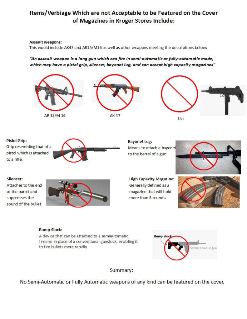 kroger restrictions